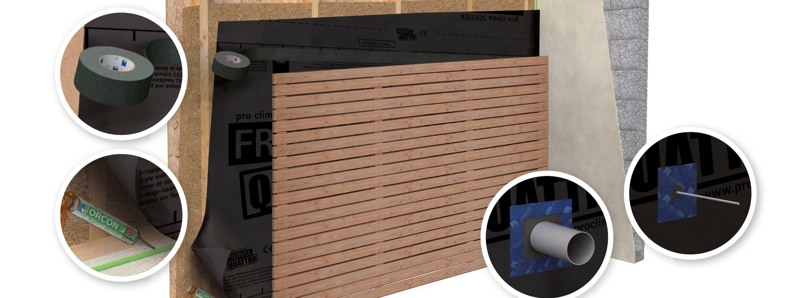 Heimwerker Pro Clima Solitex Plus Connect Rolle 75 M2 Fürs Dach